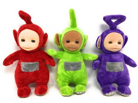 Teletubbies SET OF 3 Official TALKING Soft Toys - DIPSY, Tinky & PO - NO TAGS